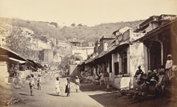 Street view and Palace at Bundi